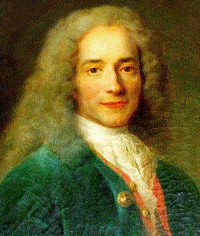 a description of voltaire born in paris in 1694